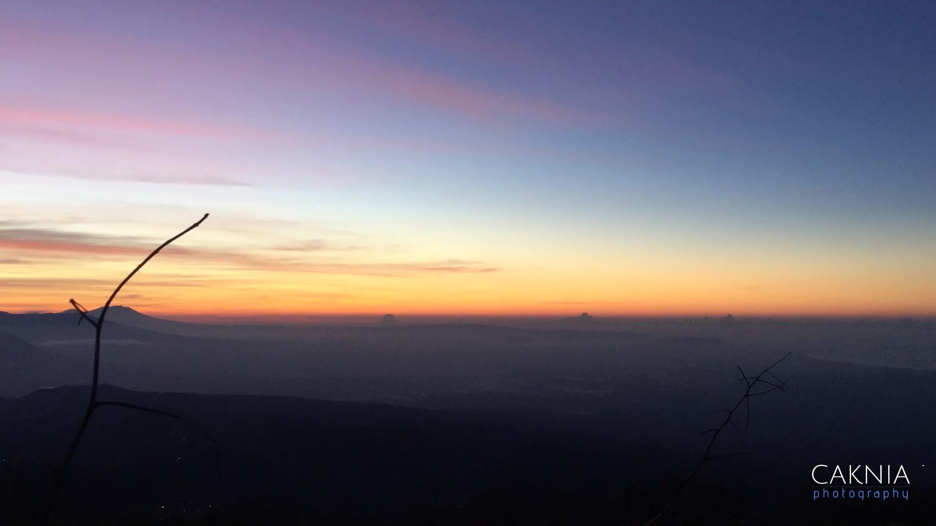 Pemandangan pagi di puncak B29